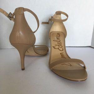 Sam Edelman Ankle Strap sandal nude  size 7W